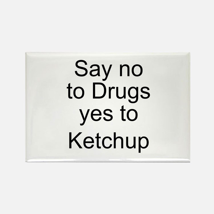 Yes to Ketchup - Go Ketchup Rectangle Magnet