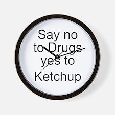 Yes to Ketchup - Go Ketchup Wall Clock
