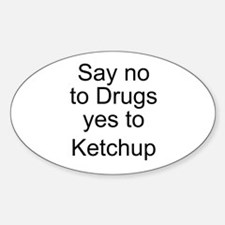 Yes to Ketchup - Go Ketchup Oval Decal