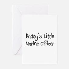 Daddy's Little Marine Officer Greeting Cards (Pk o