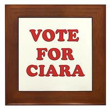 Vote for CIARA Framed Tile