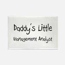Daddy's Little Management Analyst Rectangle Magnet