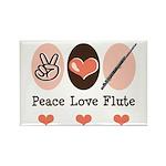 Peace Love Flute Rectangle Magnet (100 pack)
