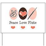 Peace Love Flute Yard Sign
