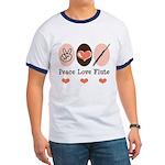 Peace Love Flute Ringer T