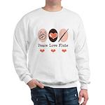 Peace Love Flute Sweatshirt