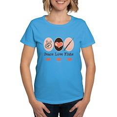 Peace Love Flute Women's Dark T-Shirt