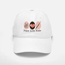 Peace Love Flute Baseball Baseball Cap