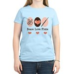 Peace Love Flute Women's Light T-Shirt