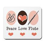 Peace Love Flute Mousepad