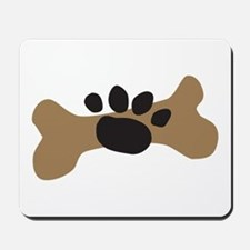 Dog Bone & Paw Print Mousepad