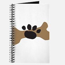 Dog Bone & Paw Print Journal