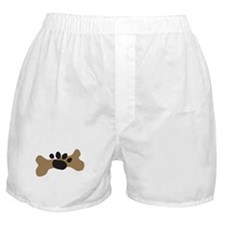 Dog Bone & Paw Print Boxer Shorts