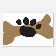 Dog Bone & Paw Print Postcards (Package of 8)