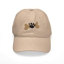Dog Bone & Paw Print Baseball Cap