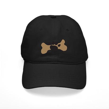 Dog Bone & Paw Print Black Cap