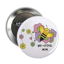 "Bee-utiful Mom 2.25"" Button (100 pack)"