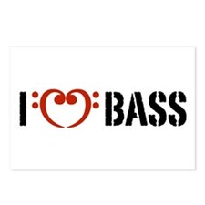 I Love Bass Postcards (Package of 8)
