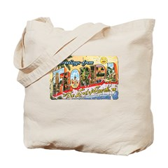 Greetings from Florida Retro Tote Bag