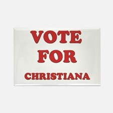 Vote for CHRISTIANA Rectangle Magnet