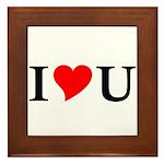 I Love U Framed Tile