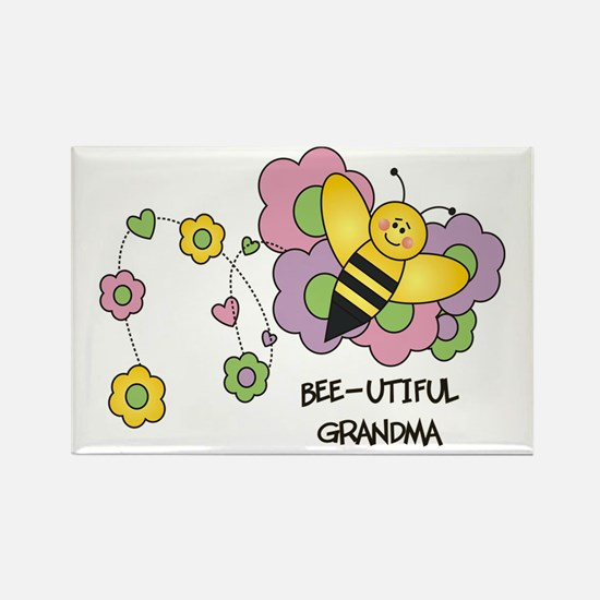 Bee-utiful Grandma Rectangle Magnet