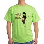 Girls Rock Green T-Shirt