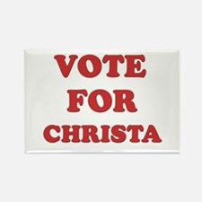 Vote for CHRISTA Rectangle Magnet