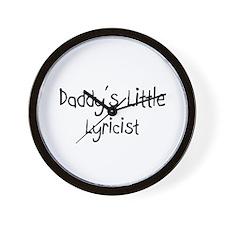 Daddy's Little Lyricist Wall Clock