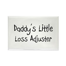 Daddy's Little Loss Adjuster Rectangle Magnet