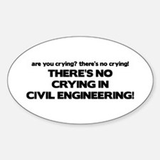 There's No Crying in Civil Engineering Decal