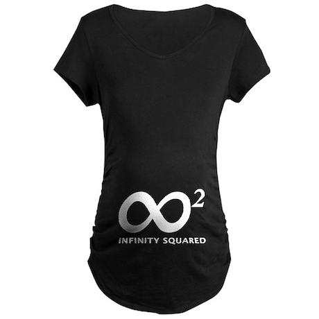 INFINITY SQUARED Maternity Dark T-Shirt