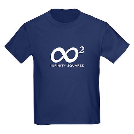 INFINITY SQUARED Kids Dark T-Shirt