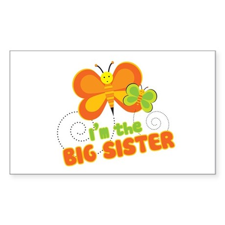 Big Sister Butterfly Rectangle Sticker