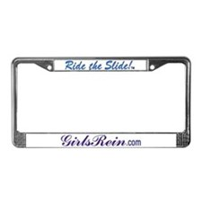 Ride the Slide words License Plate Frame