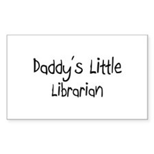 Daddy's Little Librarian Rectangle Decal