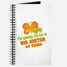 Butterfly Big Sister Twins Journal