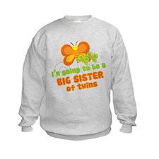 Butterfly Big Sister Twins Sweatshirt