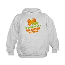 Butterfly Big Sister Twins Hoody