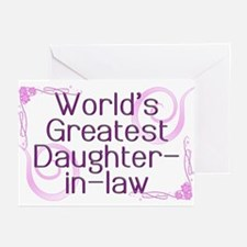 World's Greatest Daughter-in-Law Greeting Cards (P
