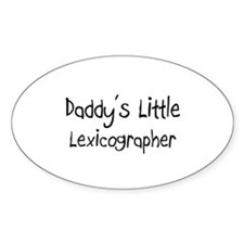 Daddy's Little Lexicographer Oval Decal