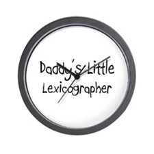 Daddy's Little Lexicographer Wall Clock