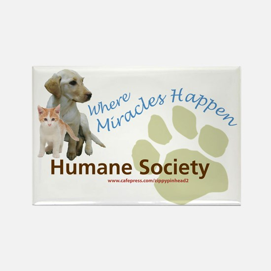 Humane Socieyt Rectangle Magnet