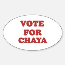 Vote for CHAYA Oval Decal