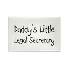 Daddy's Little Legal Secretary Rectangle Magnet