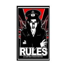 RULES 1 Rectangle Decal