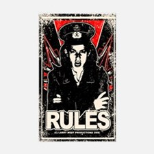 RULES 1 Distressed Rectangle Decal