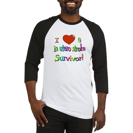 Love a stroke survivor/in utero Baseball Jersey