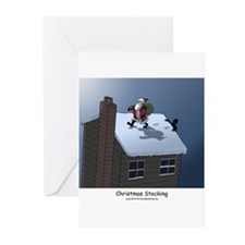 Christmas Stalking Greeting Cards (Pk of 20)