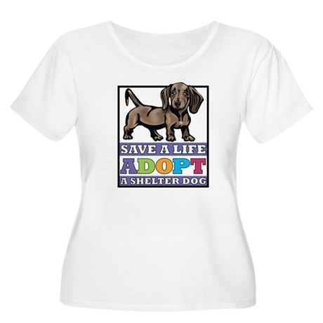 Dachshund Rescue Women's Plus Size Scoop Neck T-Sh